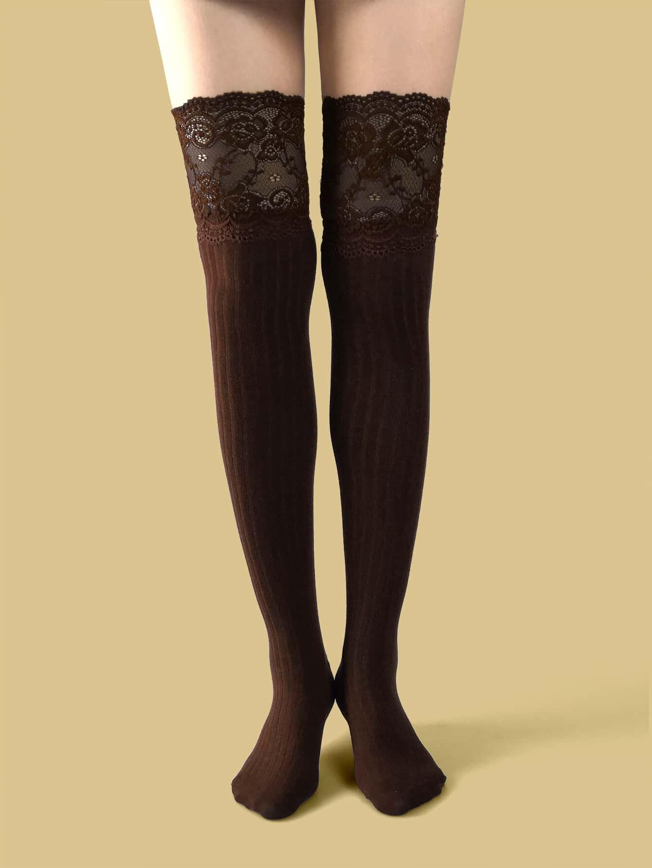 Lace Trim Long Socks thumbnail