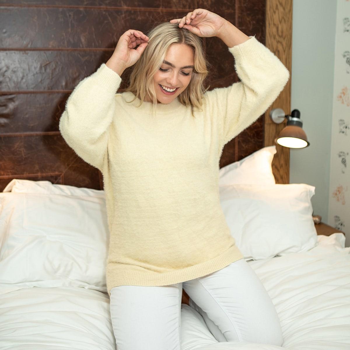 Длинный свитер размера плюс