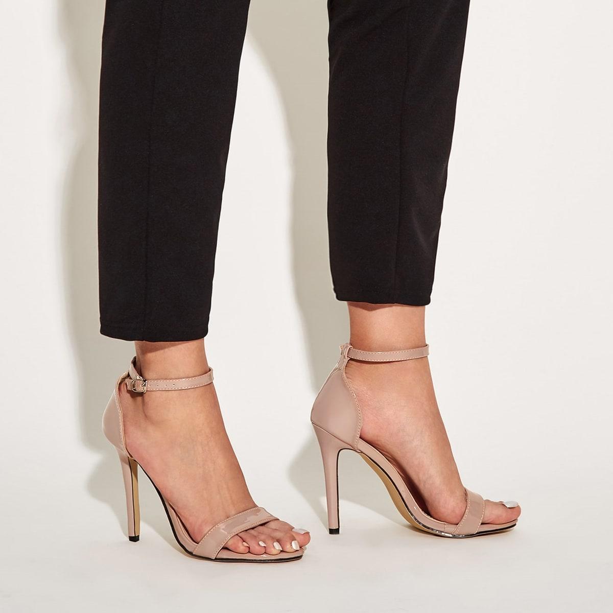 Minimalist Stiletto Heeled Sandals