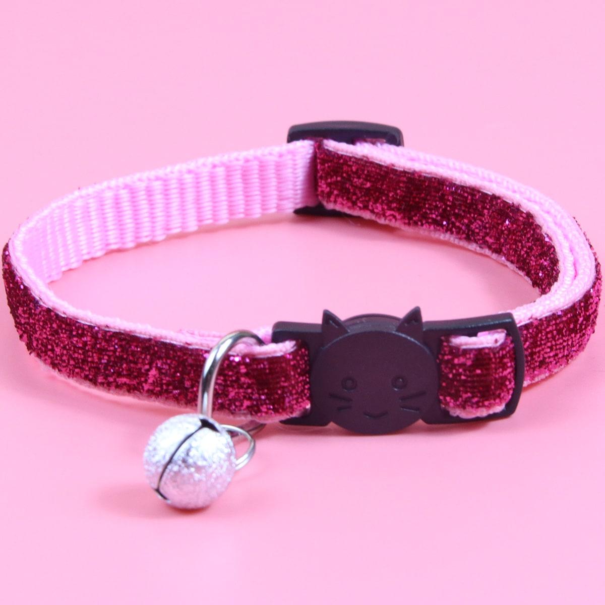 Katzenhalsband mit Glocke Dekor