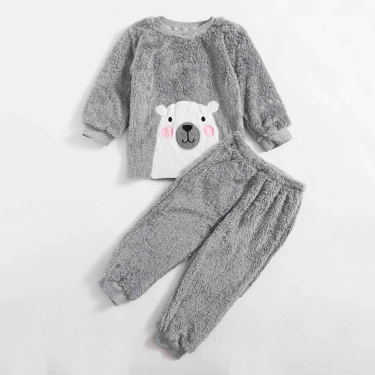Шнуровка мультяшный принт милый домашняя одежда для мальчиков