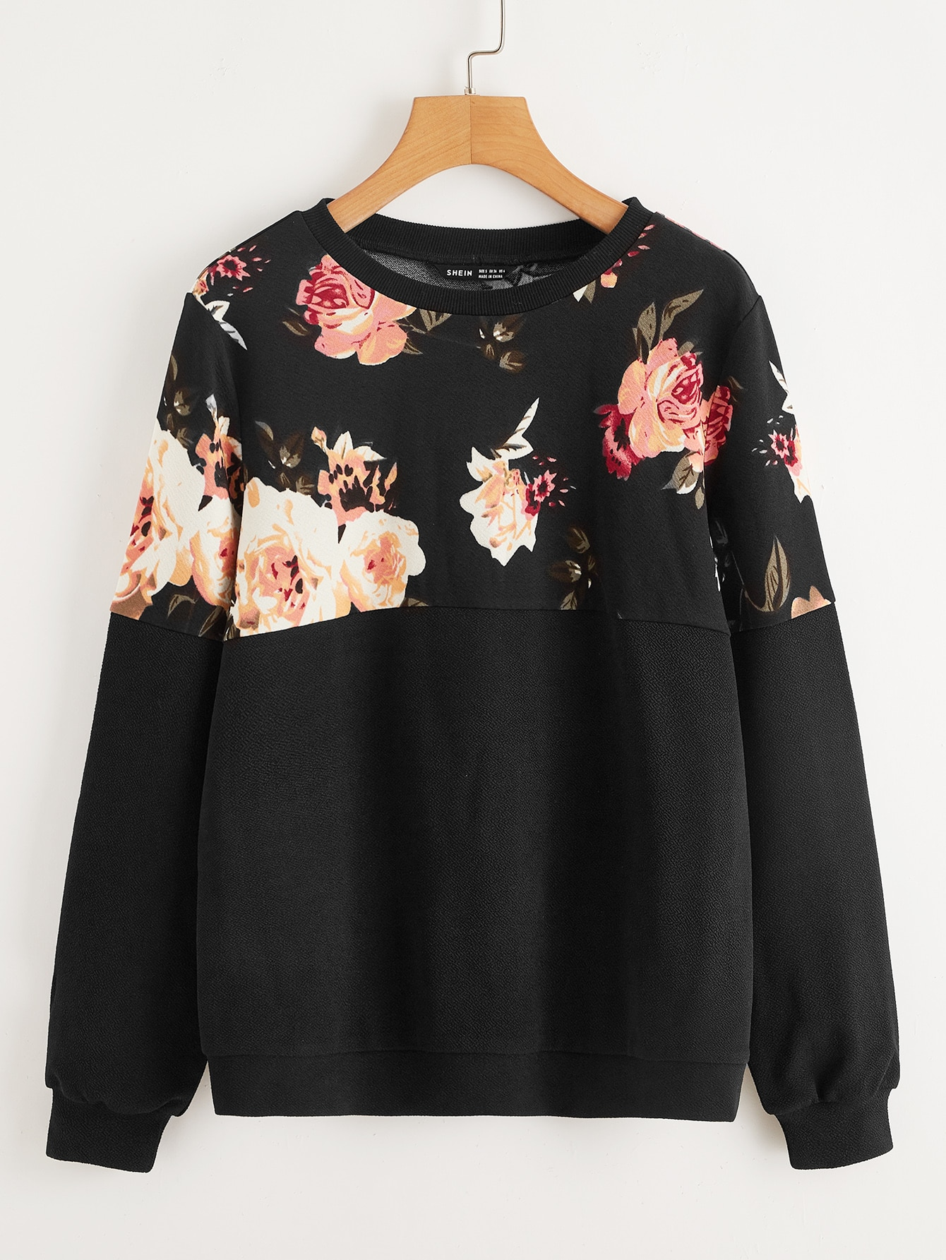 Floral Panel Pullover thumbnail
