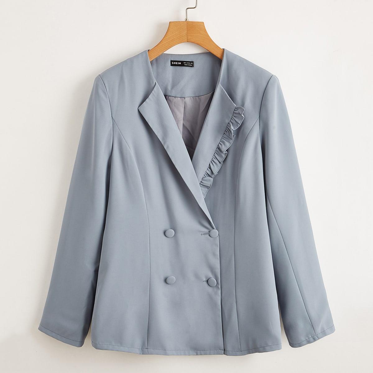 Двубортный пиджак с оригинальной отделкой