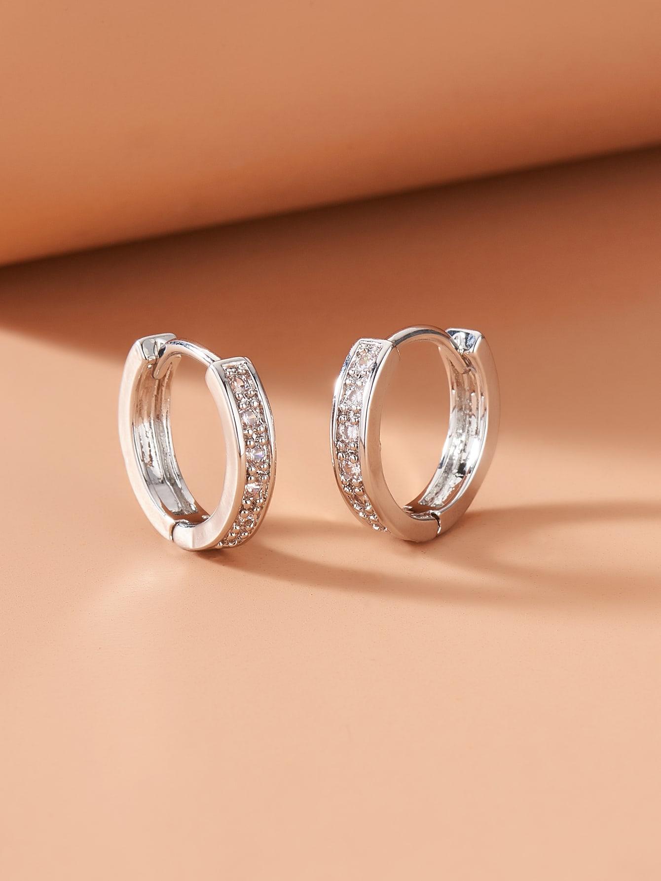 Rhinestone Hoop Earrings thumbnail