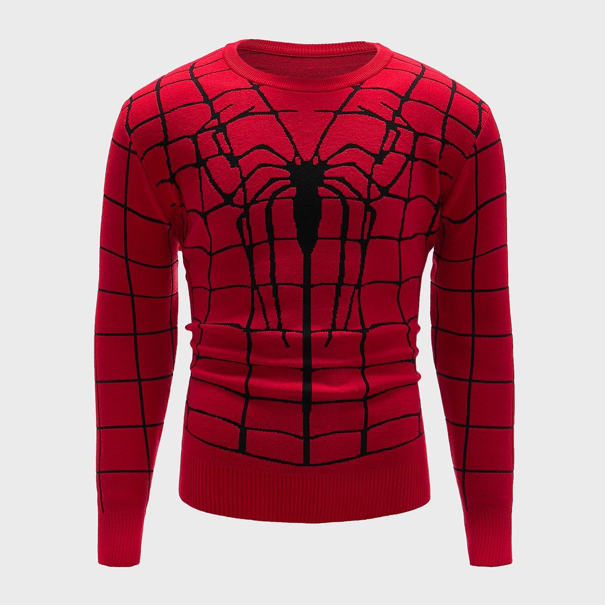 Мужской свитер с оригинальным принтом