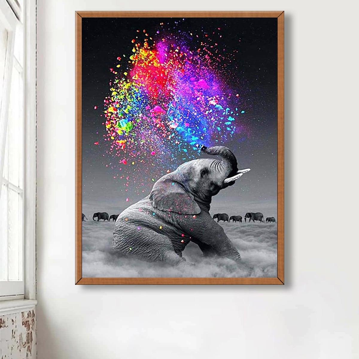 Алмазная живопись с принтом слона