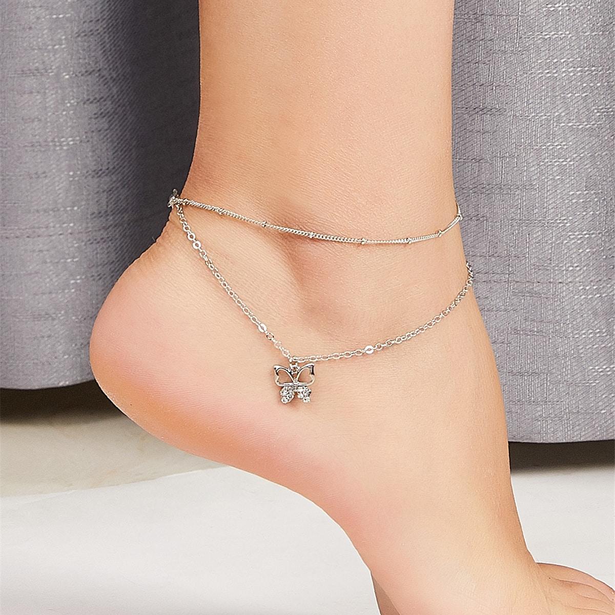 Bracelet avec pendentif de papillon