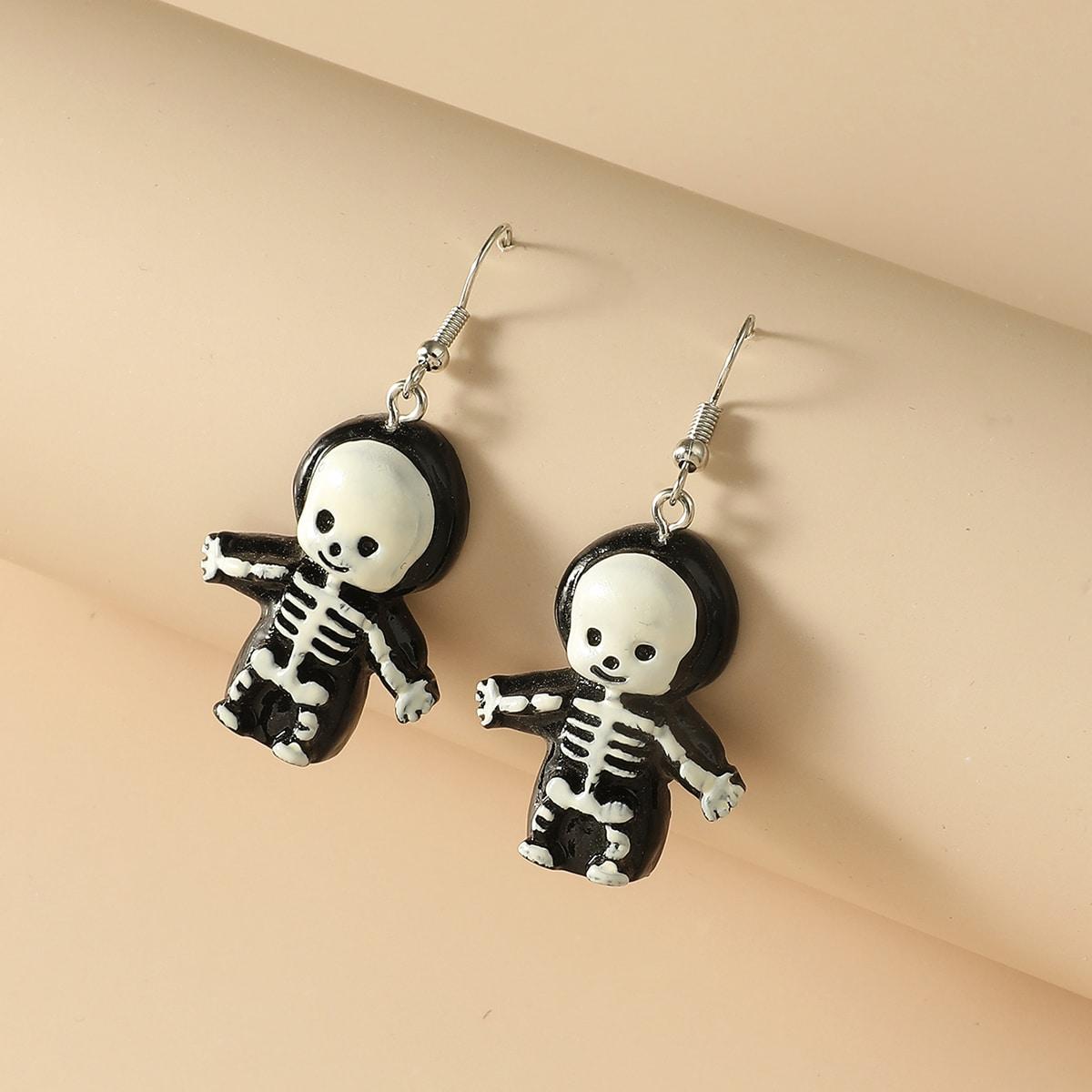 Orecchini pendenti scheleton fumetto Halloween