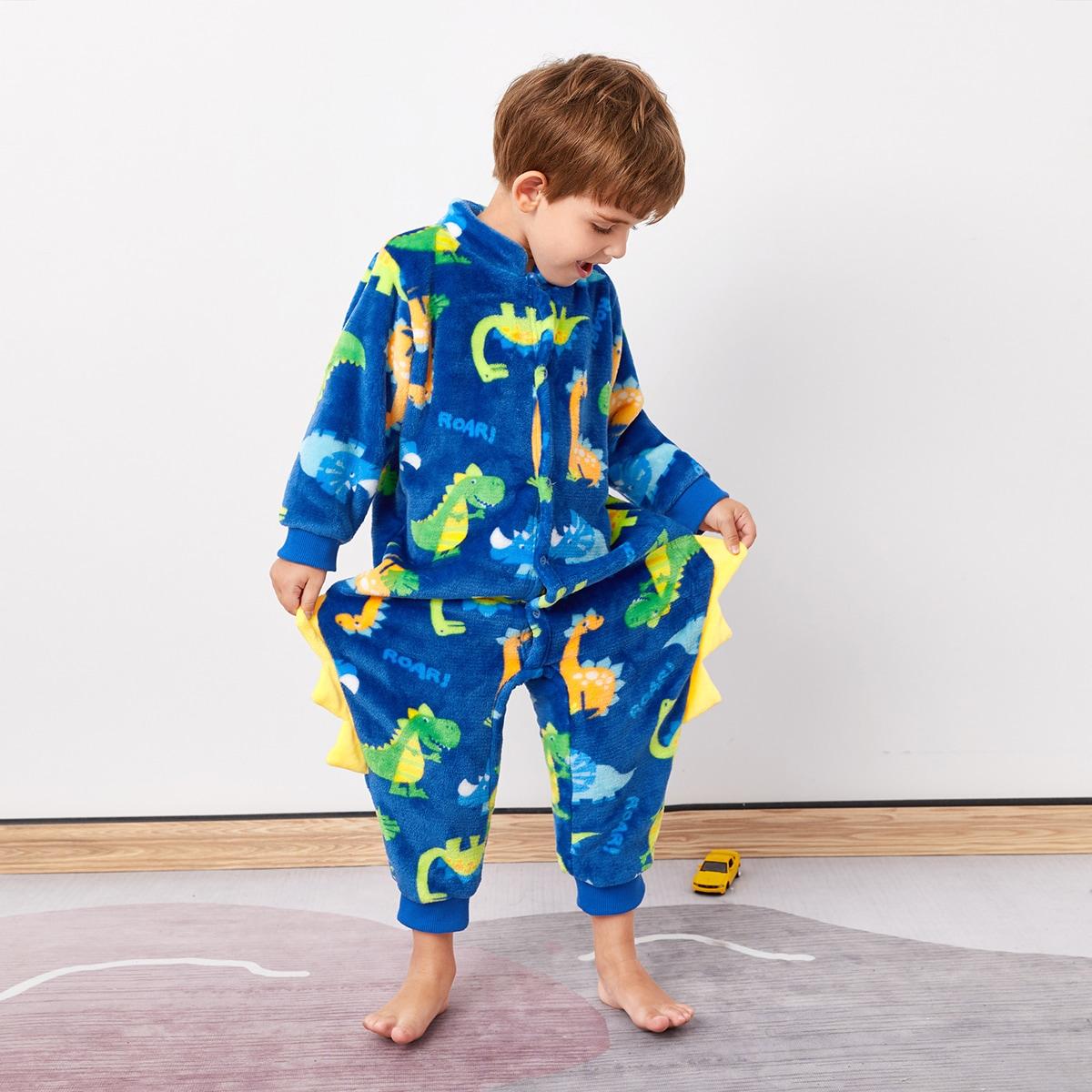на пуговицах Мультяшный принт милый Домашняя одежда для мальчиков