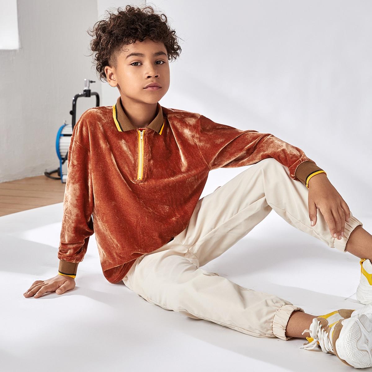 Застежка полосатый повседневный рубашки поло для мальчиков