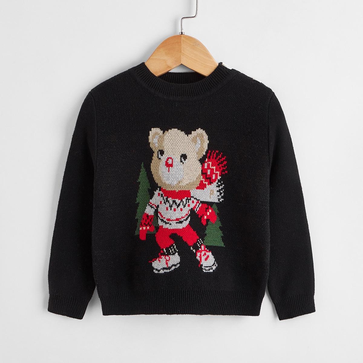 Мультяшный принт Повседневный Детские свитеры