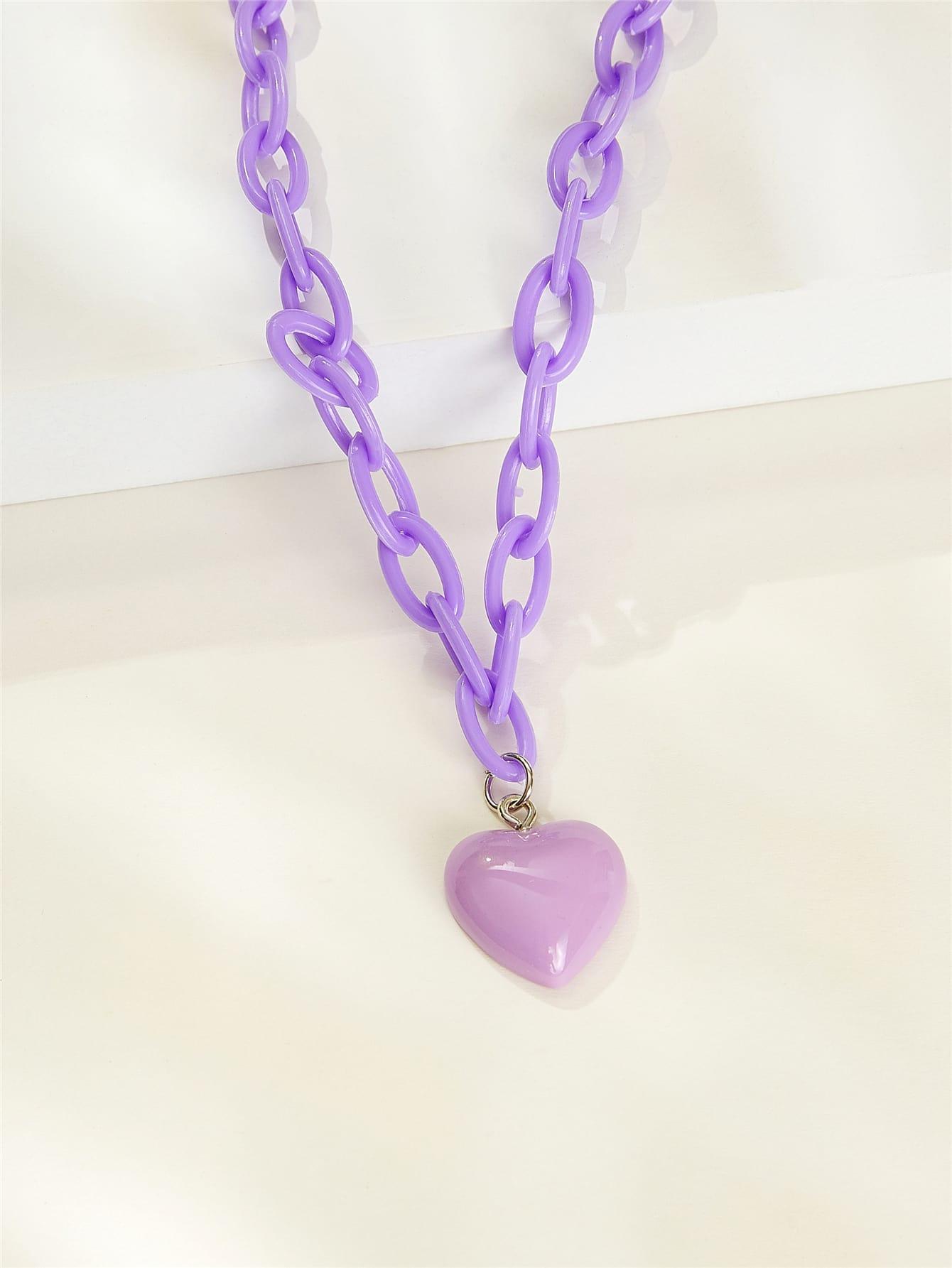 Heart Pendant Chain Necklace thumbnail