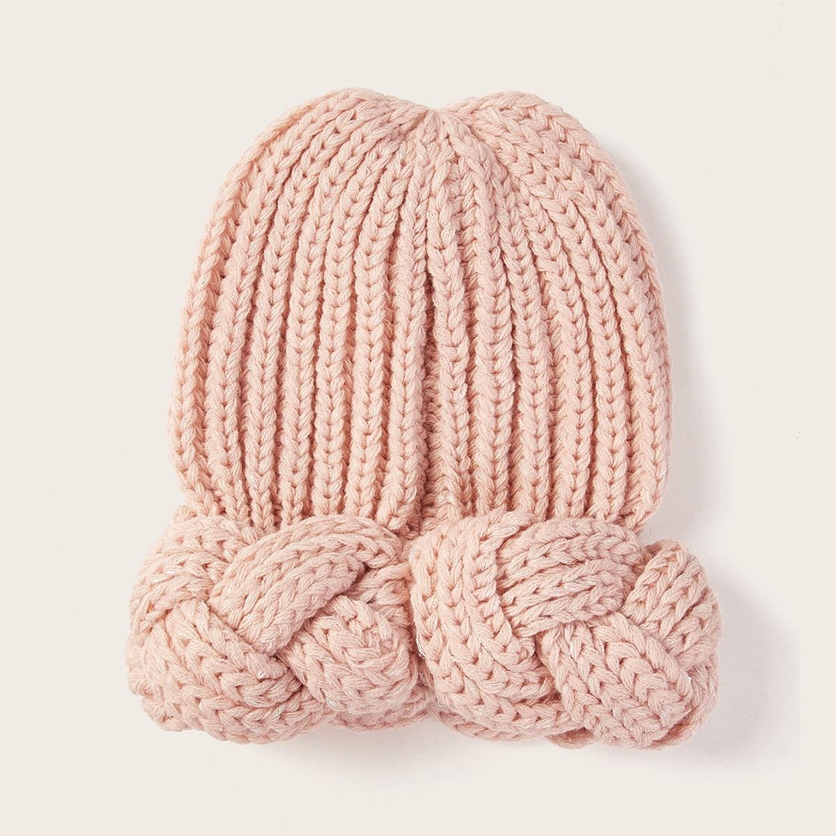 Плетеная шапка-бини