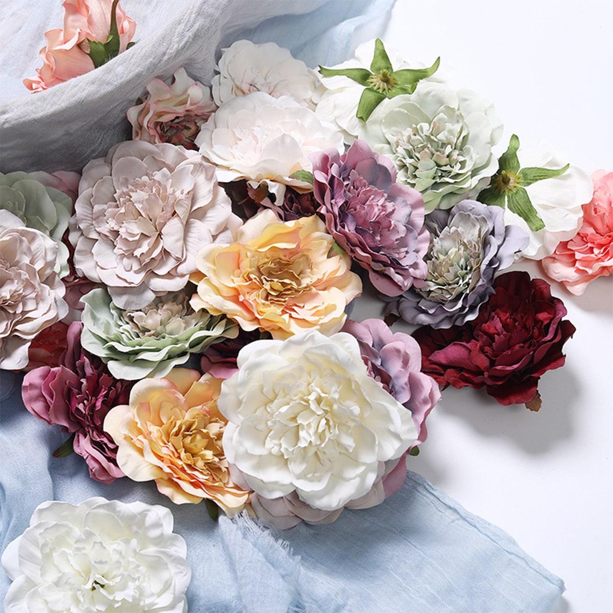 5 Stücke zufällige Farbe künstliche Blumen