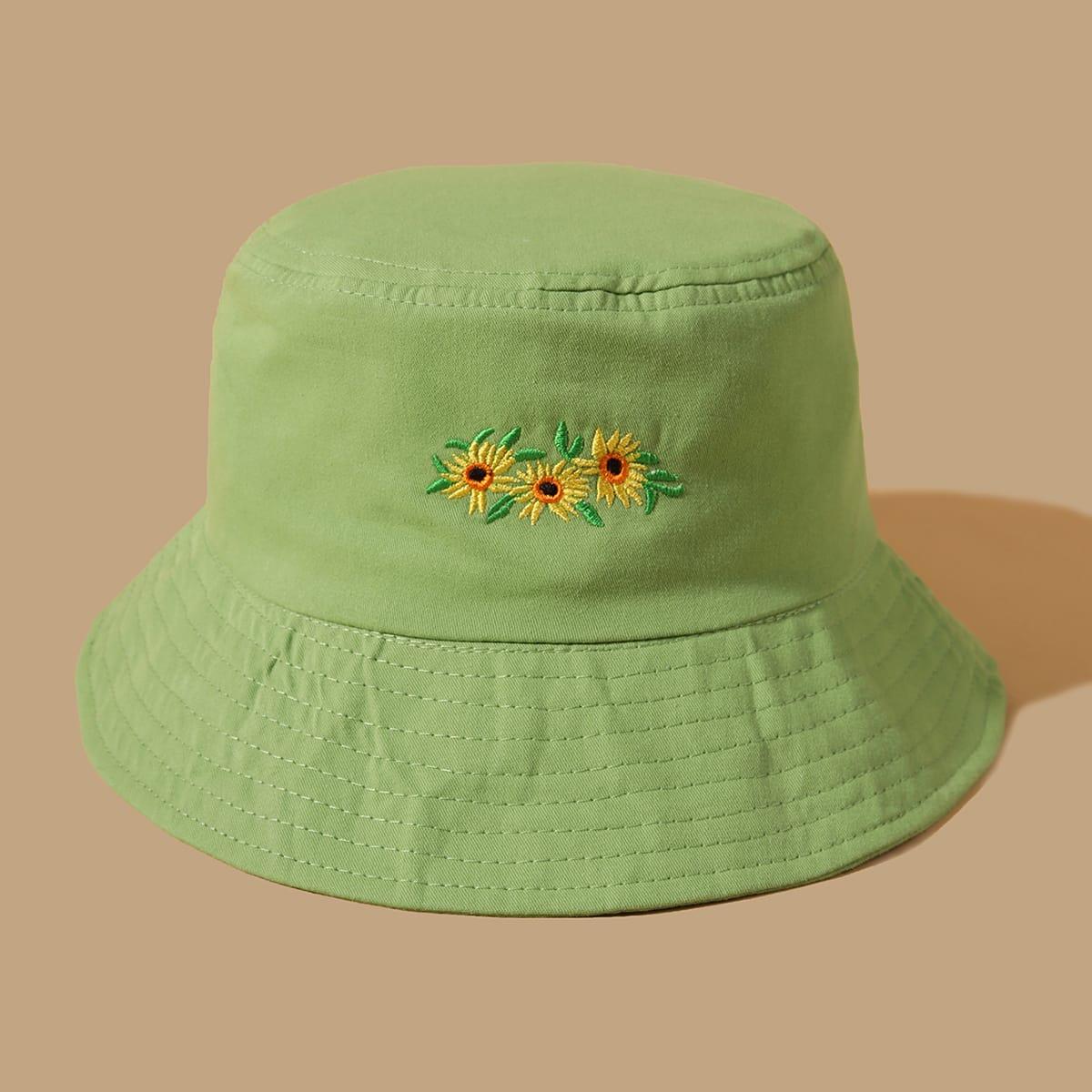 Шляпа с вышивкой маргаритки