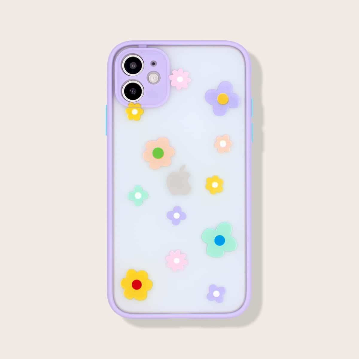 Flower Contrast Frame iPhone Case