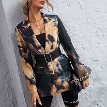 Tie Dye Blazer Without Belted