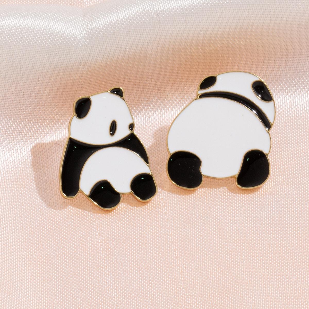 2 Stücke Brosche mit Panda Design