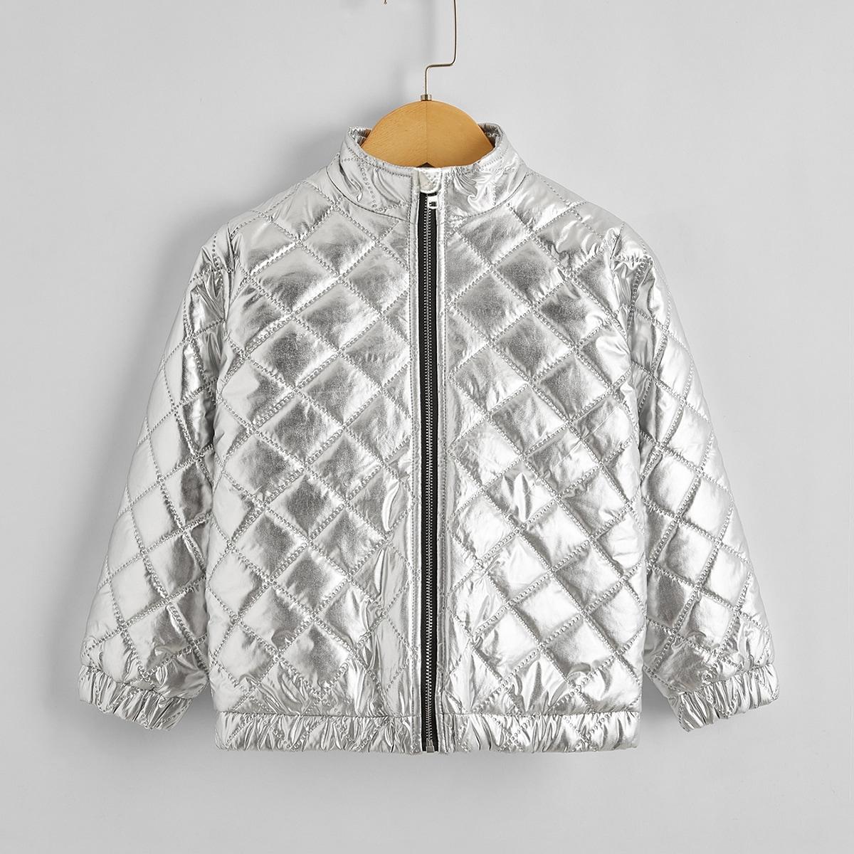 Пальто на молнии для девочек