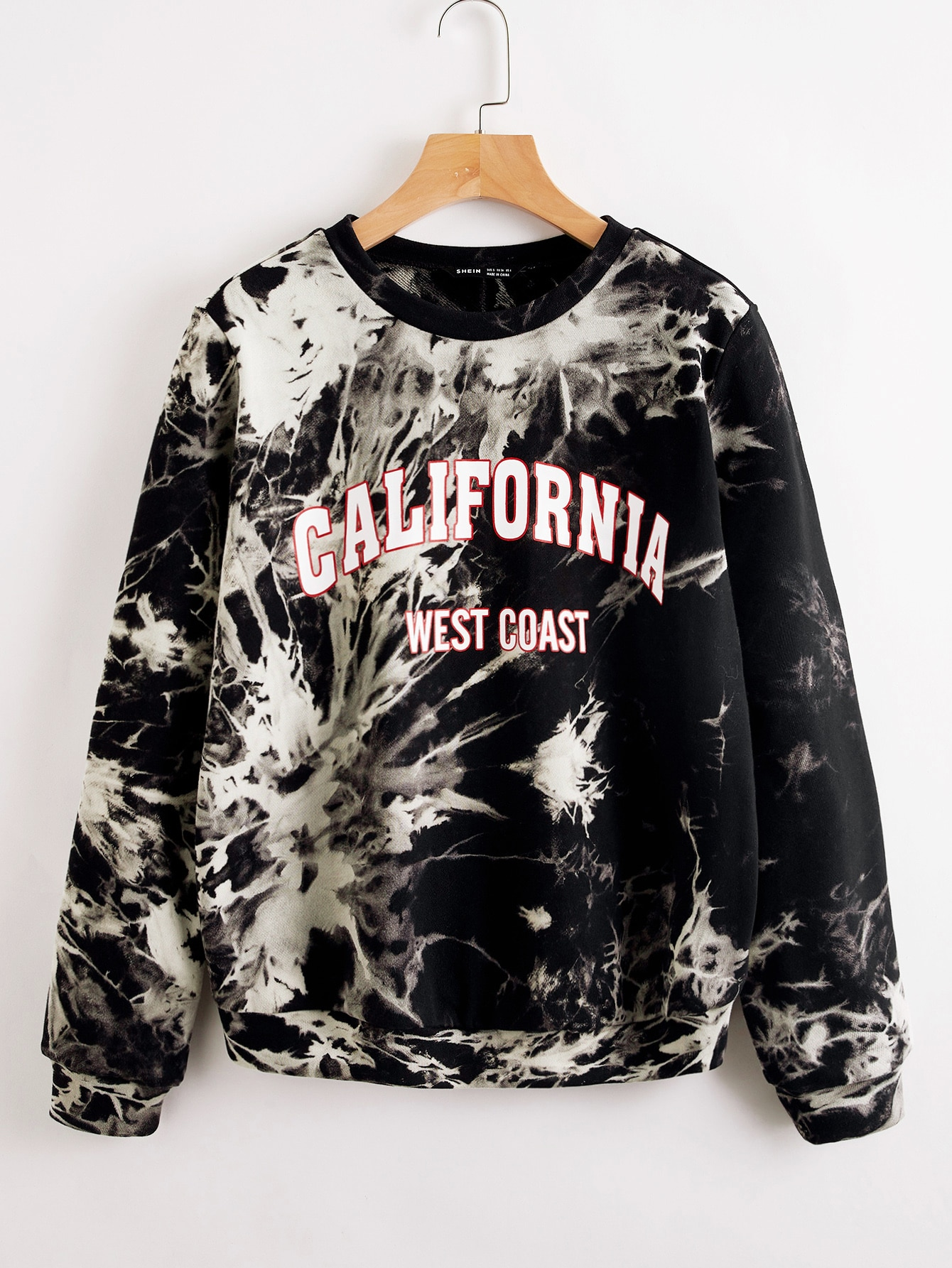 Letter Graphic Tie Dye Pullover thumbnail