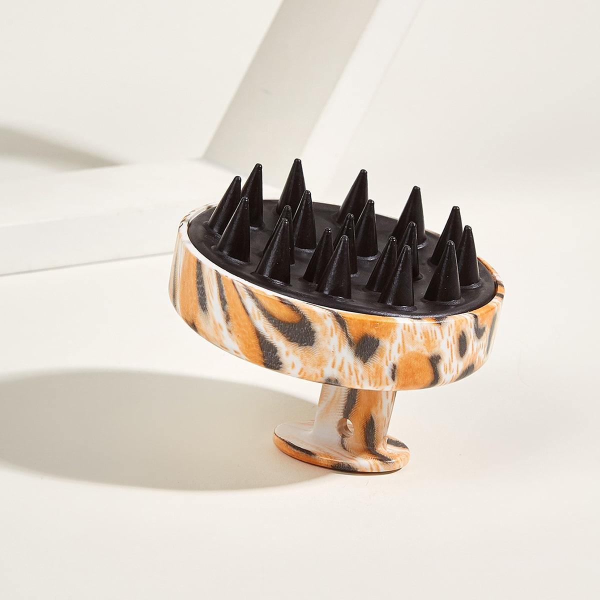 Расческа для шампуня с леопардовым принтом