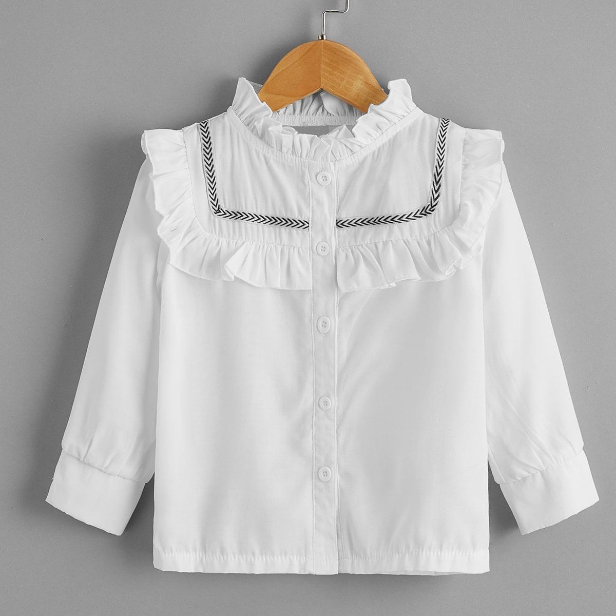Блуза с оборками для девочек