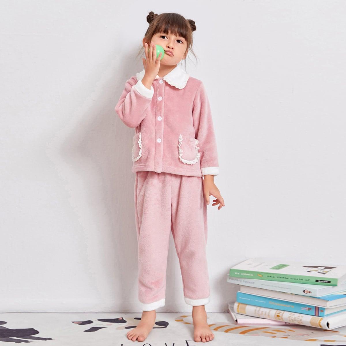 С карманами милый домашняя одежда для девочек