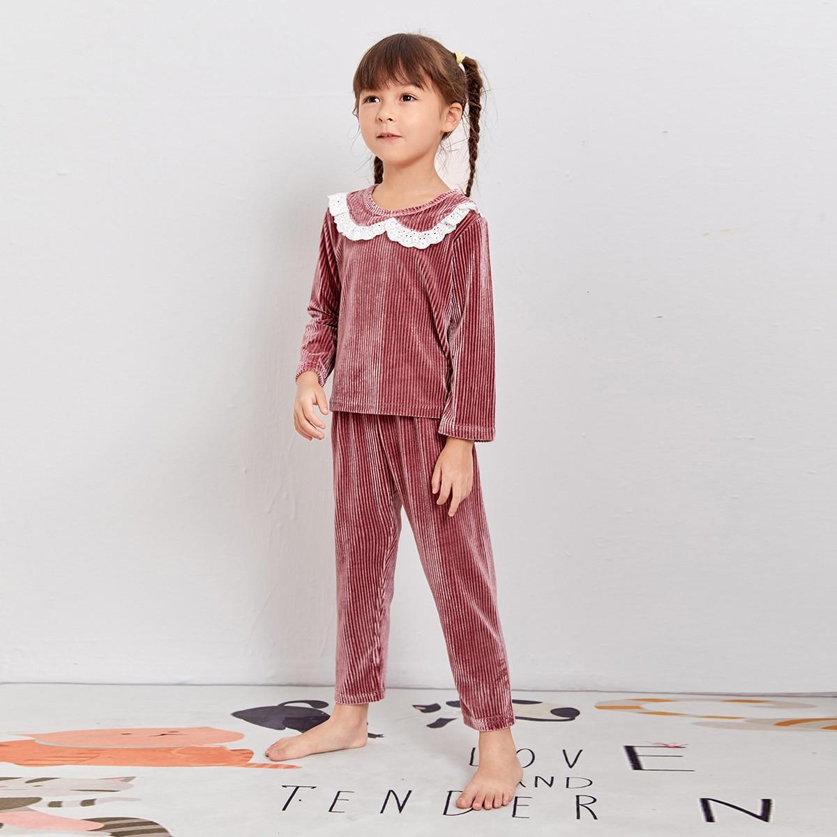 Бархатная пижама для девочек