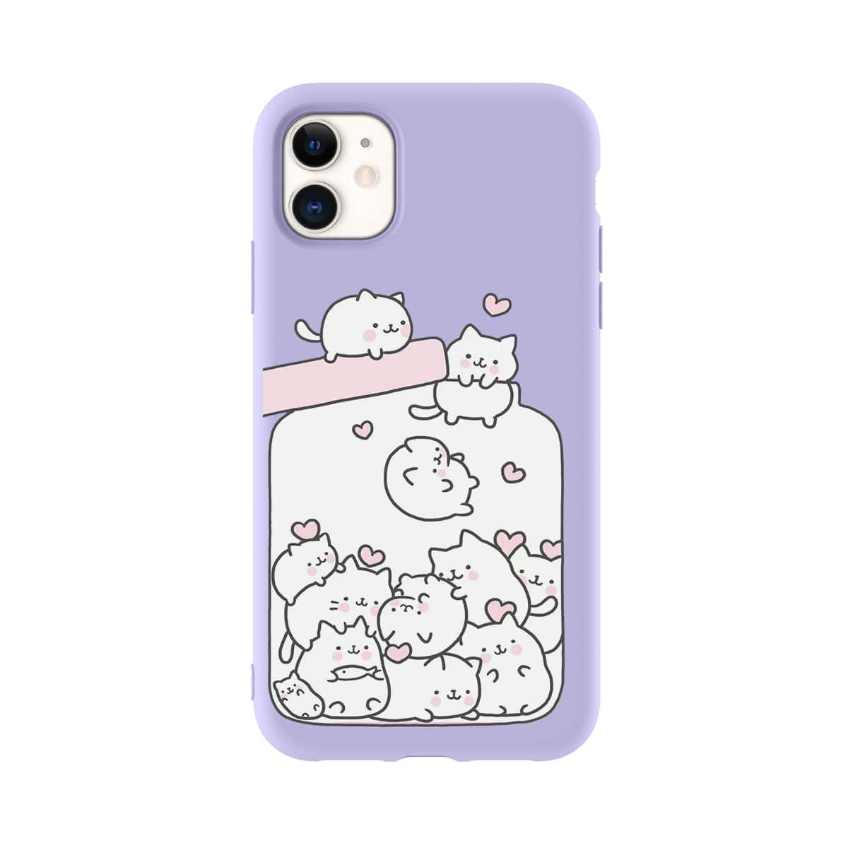 Cat Cartoon Graphic iPhone Case, SHEIN  - buy with discount