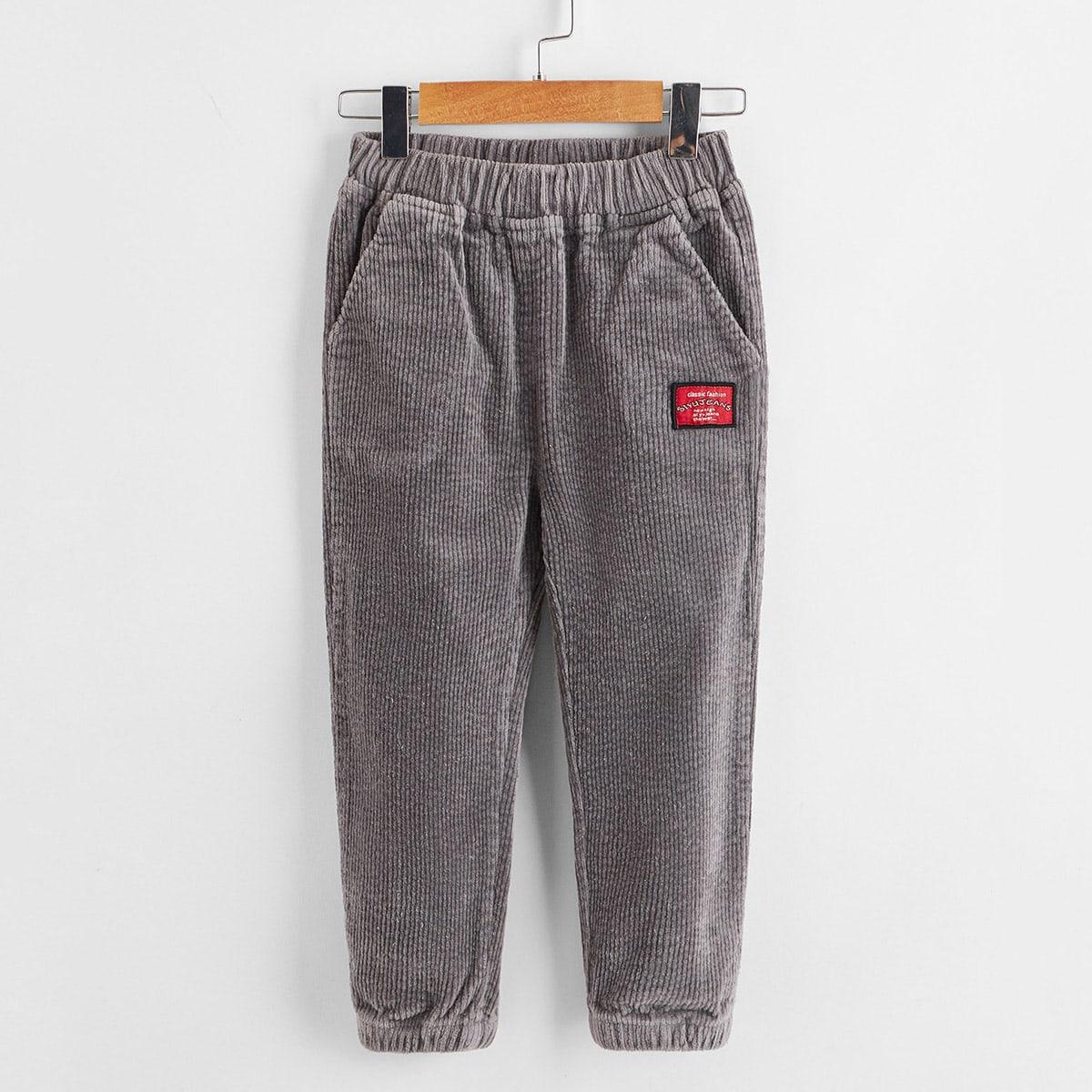Карман текст повседневный брюки для мальчиков