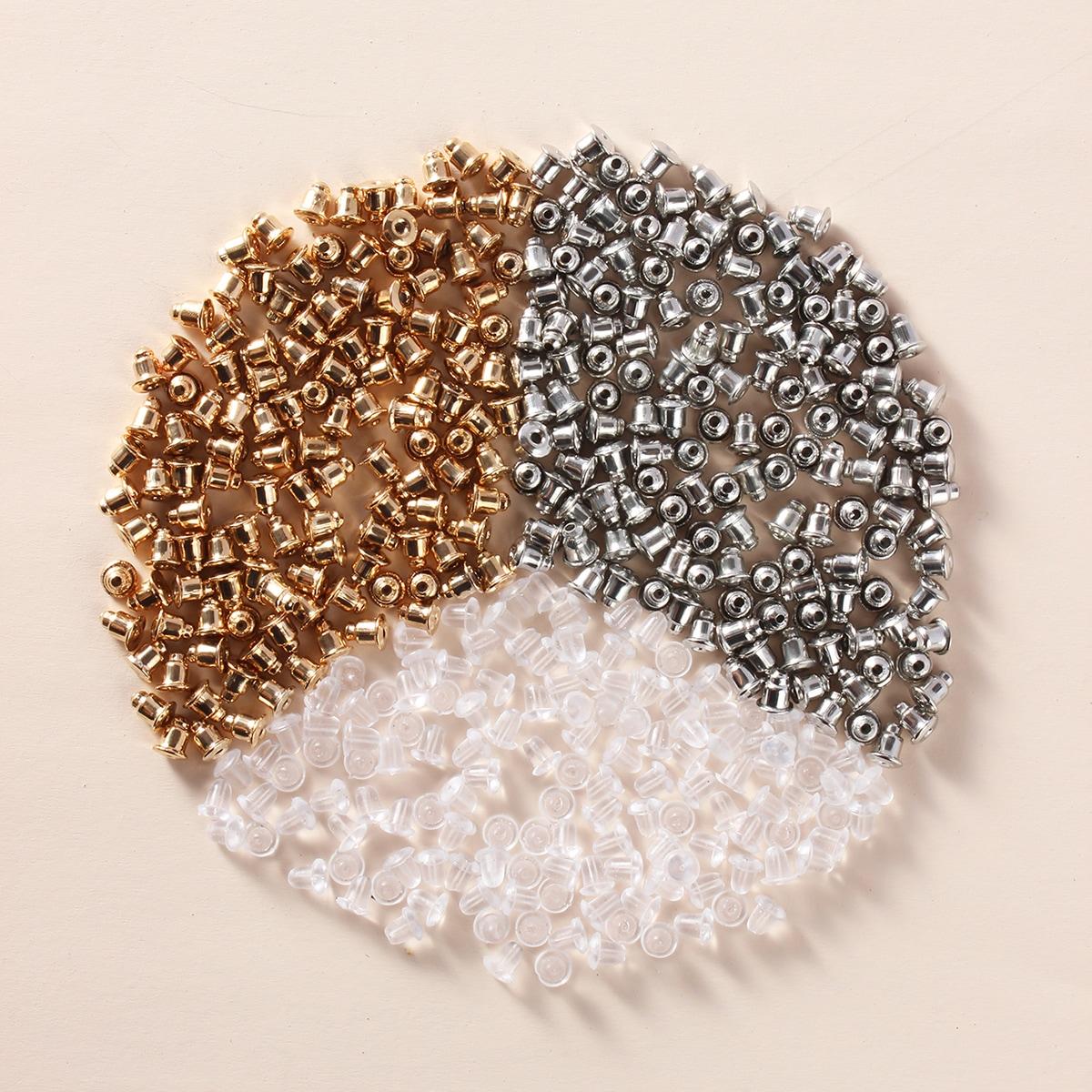 300pcs Metal & Plastic Earplugs Earrings Accessory