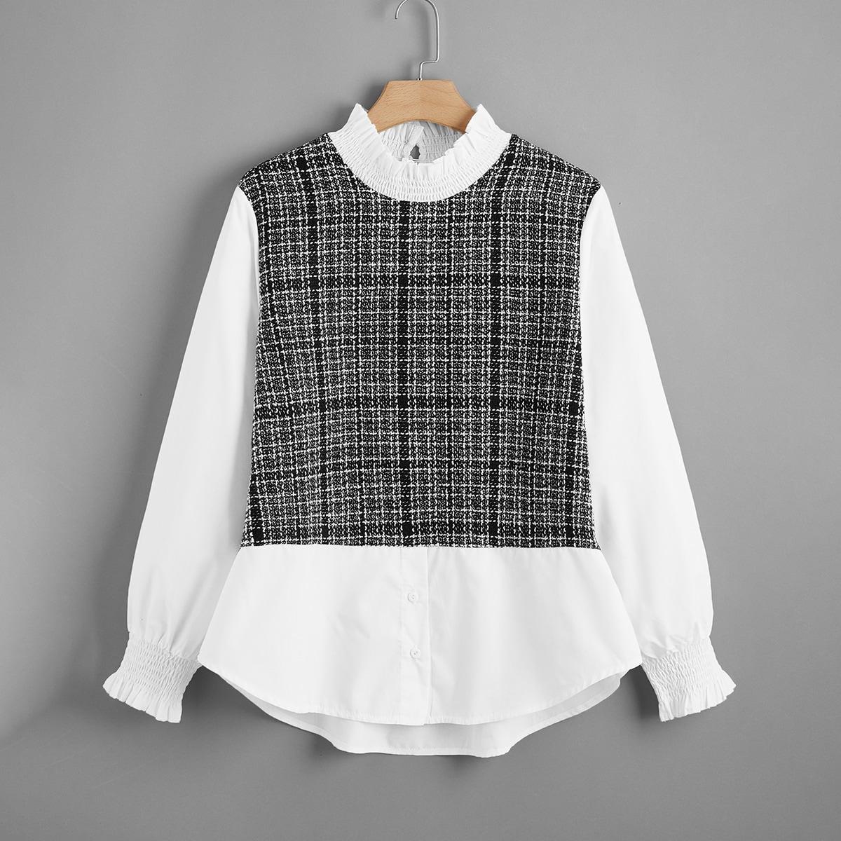 Оригинальная блузка размера плюс