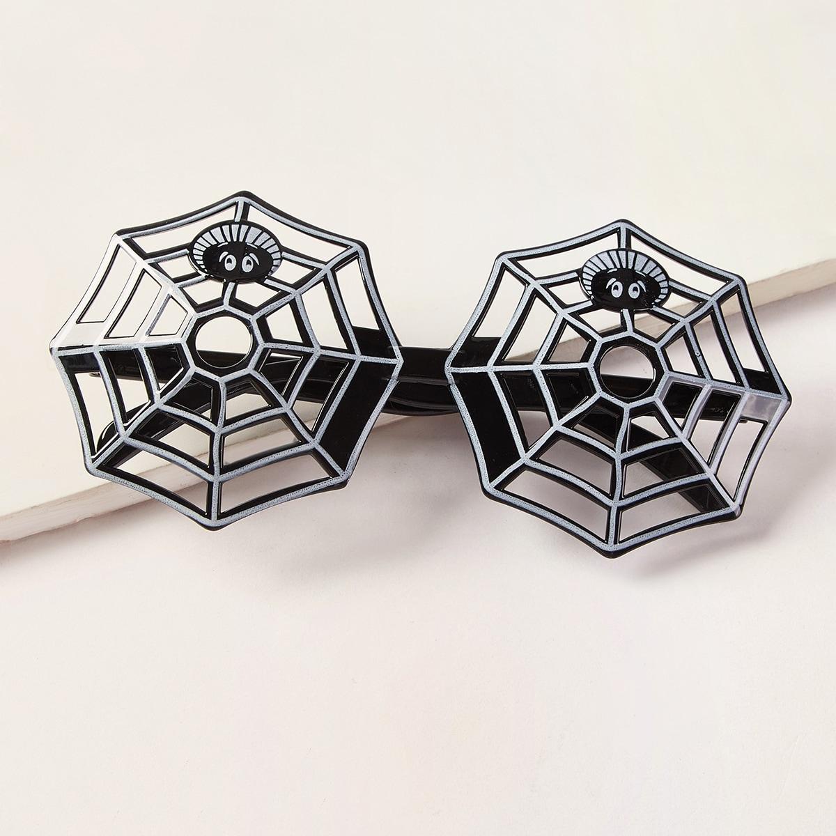Очки в форме паутины на хэллоуин