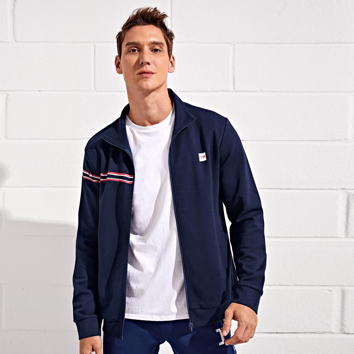 Мужская спортивная куртка на молнии