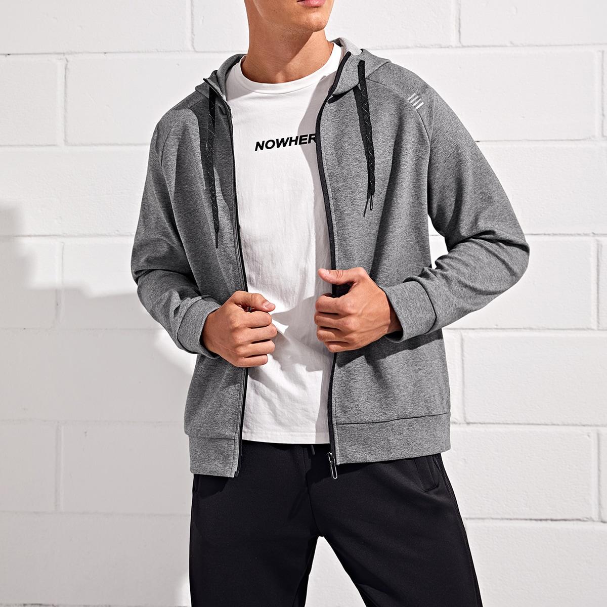 Мужская спортивная куртка с капюшоном на молнии