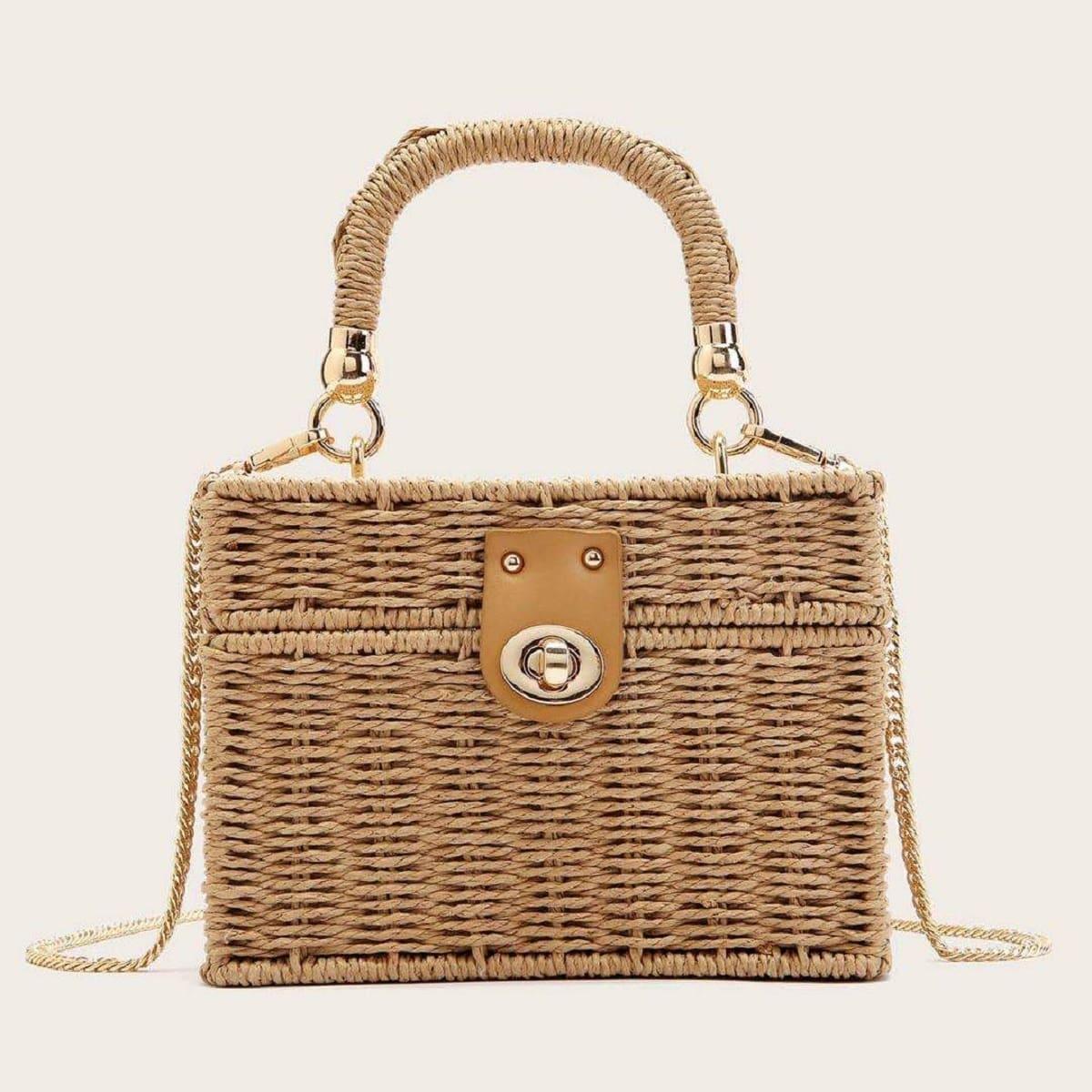 Минималистская плетеная сумка-сэтчел