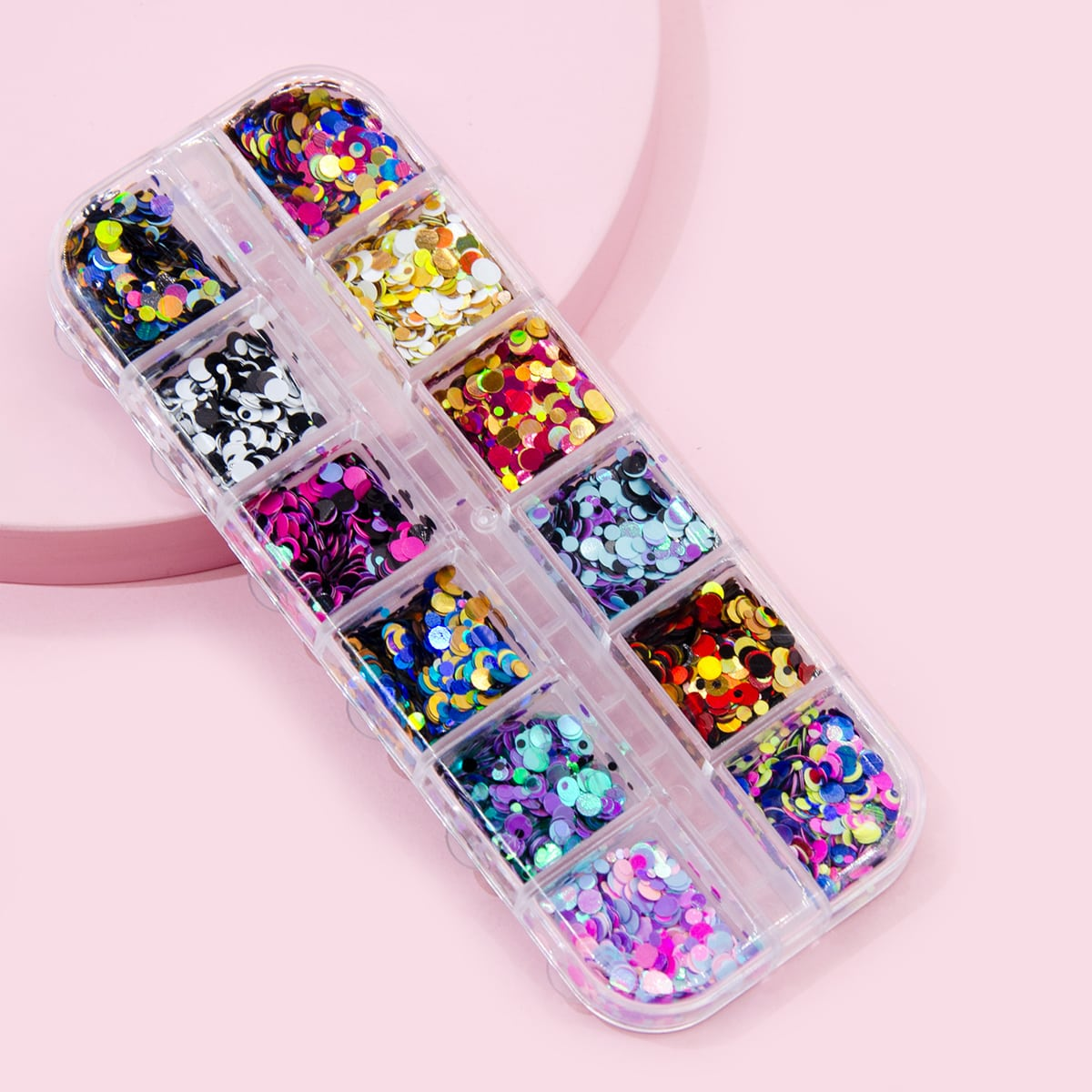 1box Sequin Nail Art Decoration, SHEIN  - buy with discount
