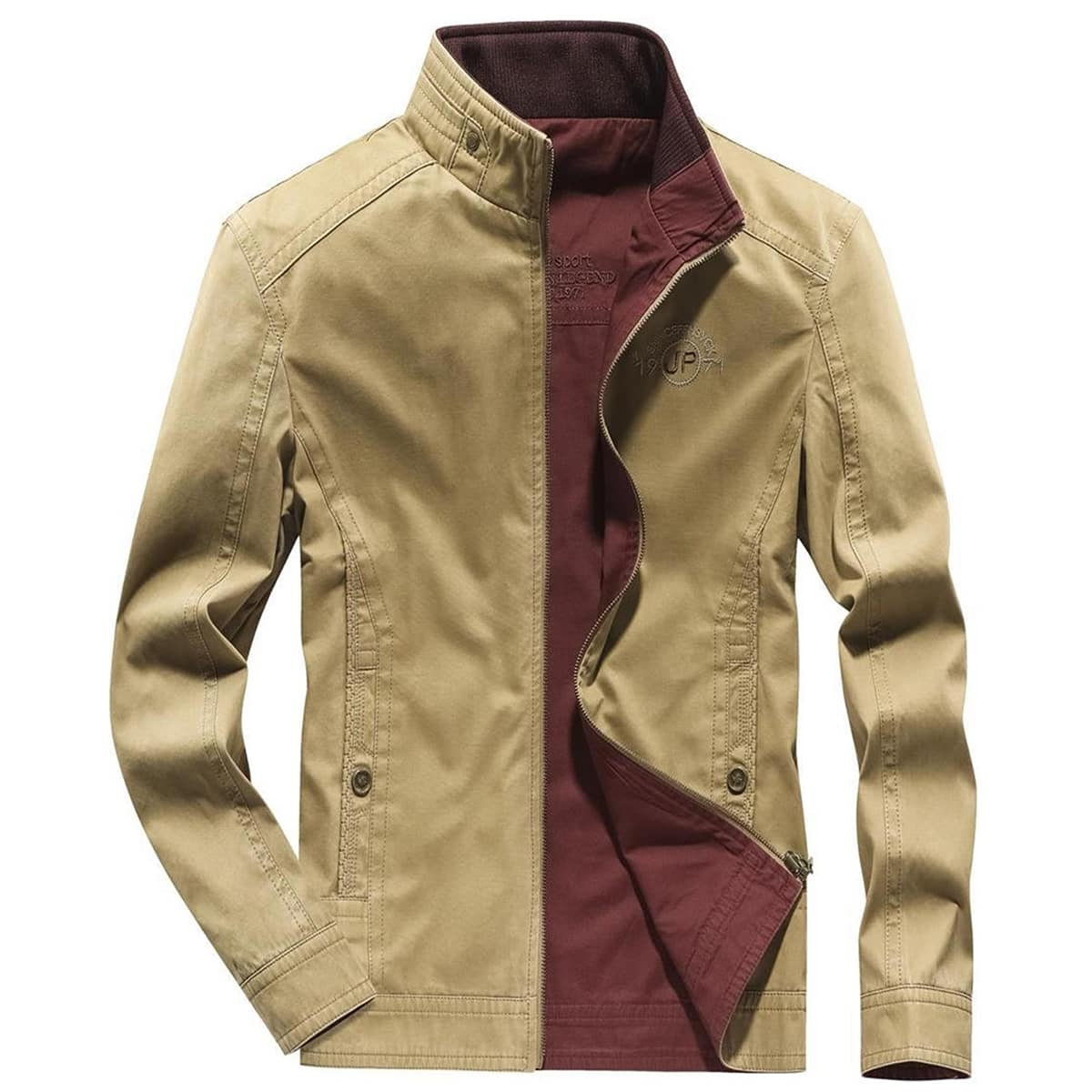 Мужская двусторонняя куртка с вышивкой