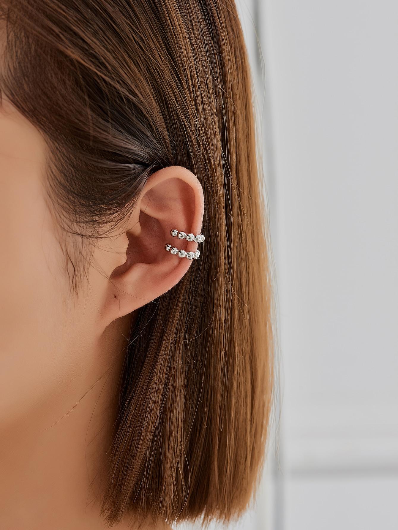 2pcs Round Design Ear Cuff thumbnail