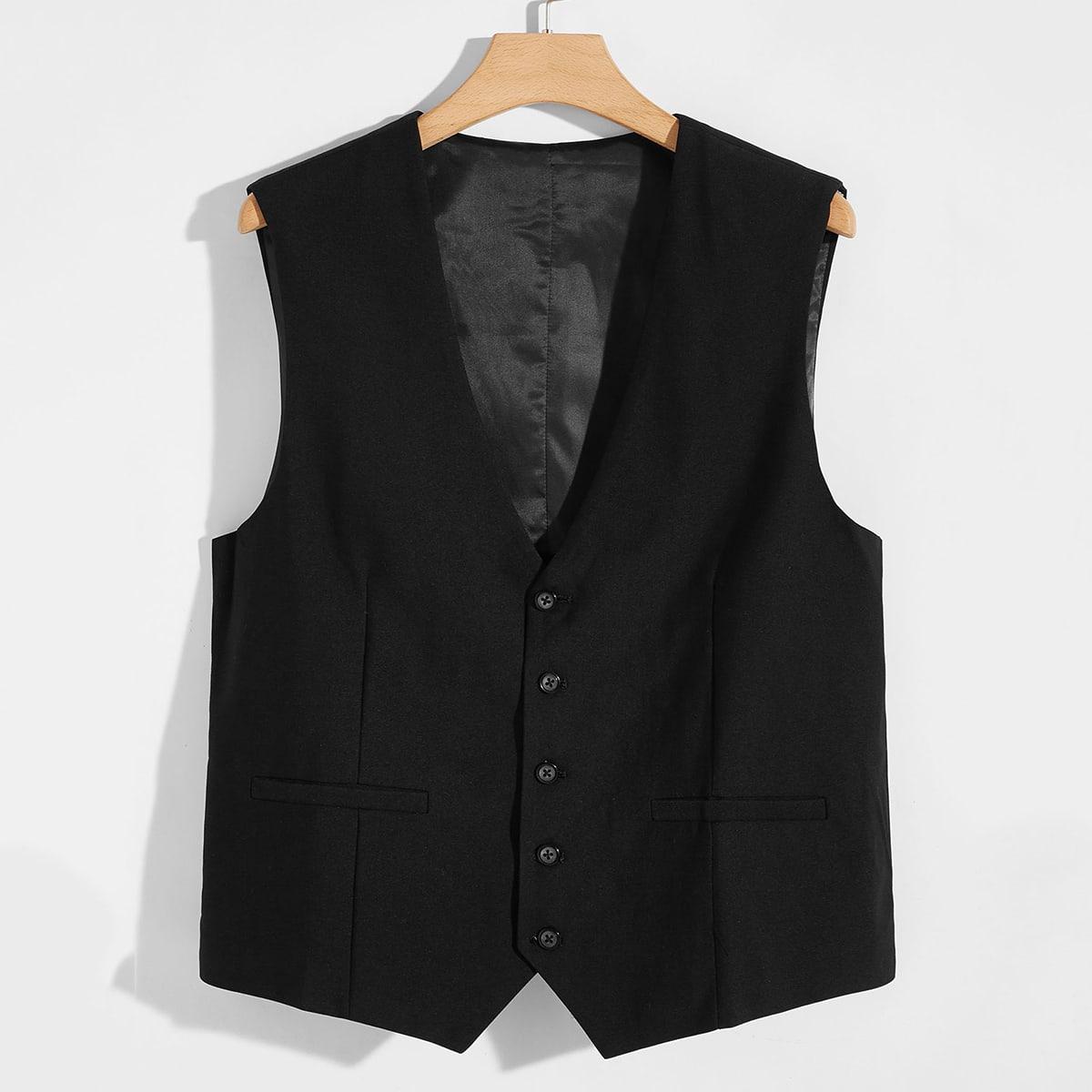 Мужской жилет-пиджак на пуговицах