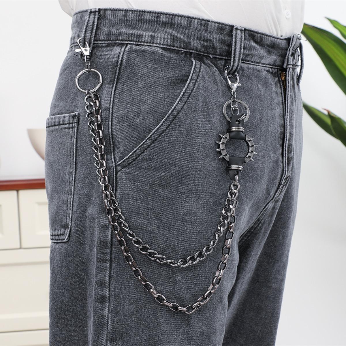 Мужская цепочка для брюк с кольцом