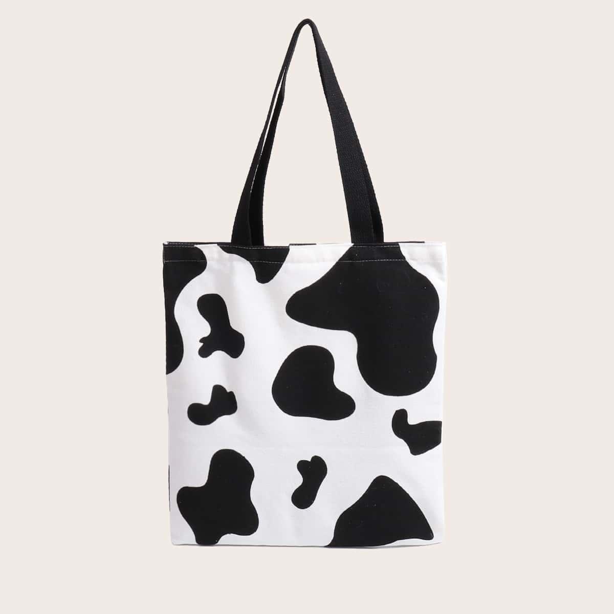 Сумка-шоппер с коровьим узором