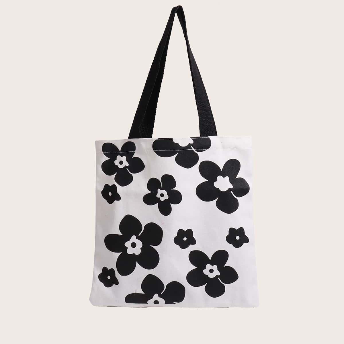 Сумка-шоппер с цветочным узором