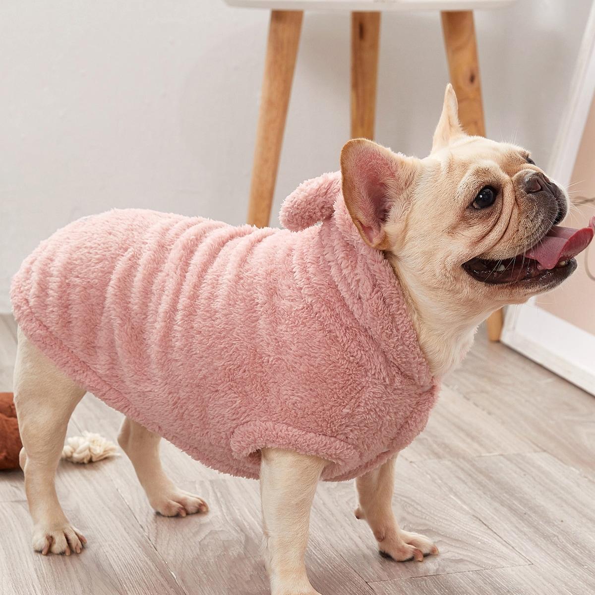 1 pezzo felpa con cappuccio in velluto per cane