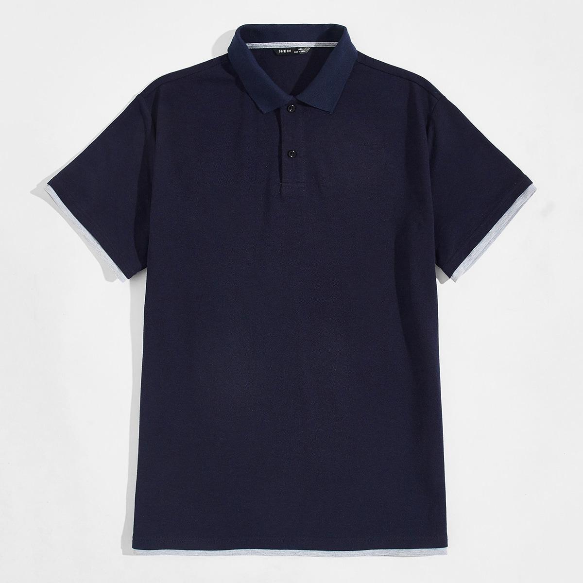 Мужская рубашка-поло 2 в 1