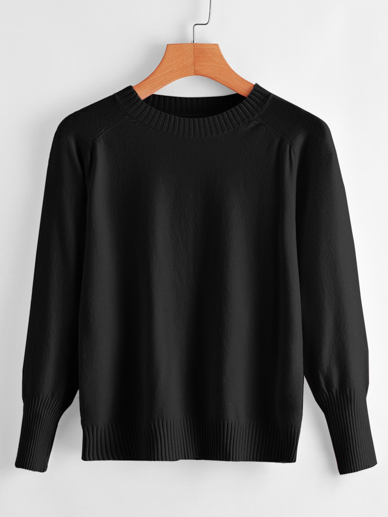 Raglan Sleeve Solid Sweater thumbnail