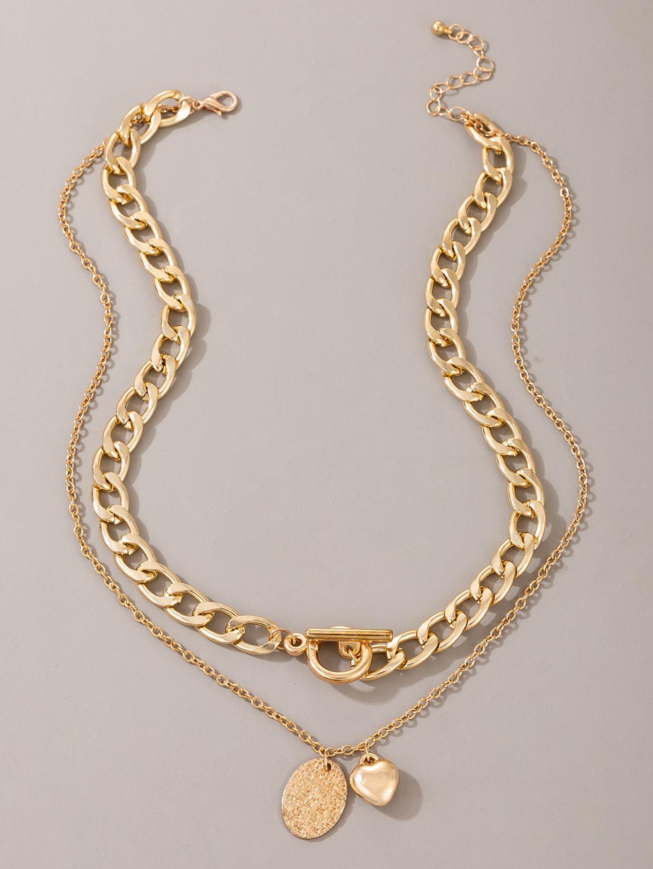 Многослойное ожерелье с сердечкомswneck18200925054