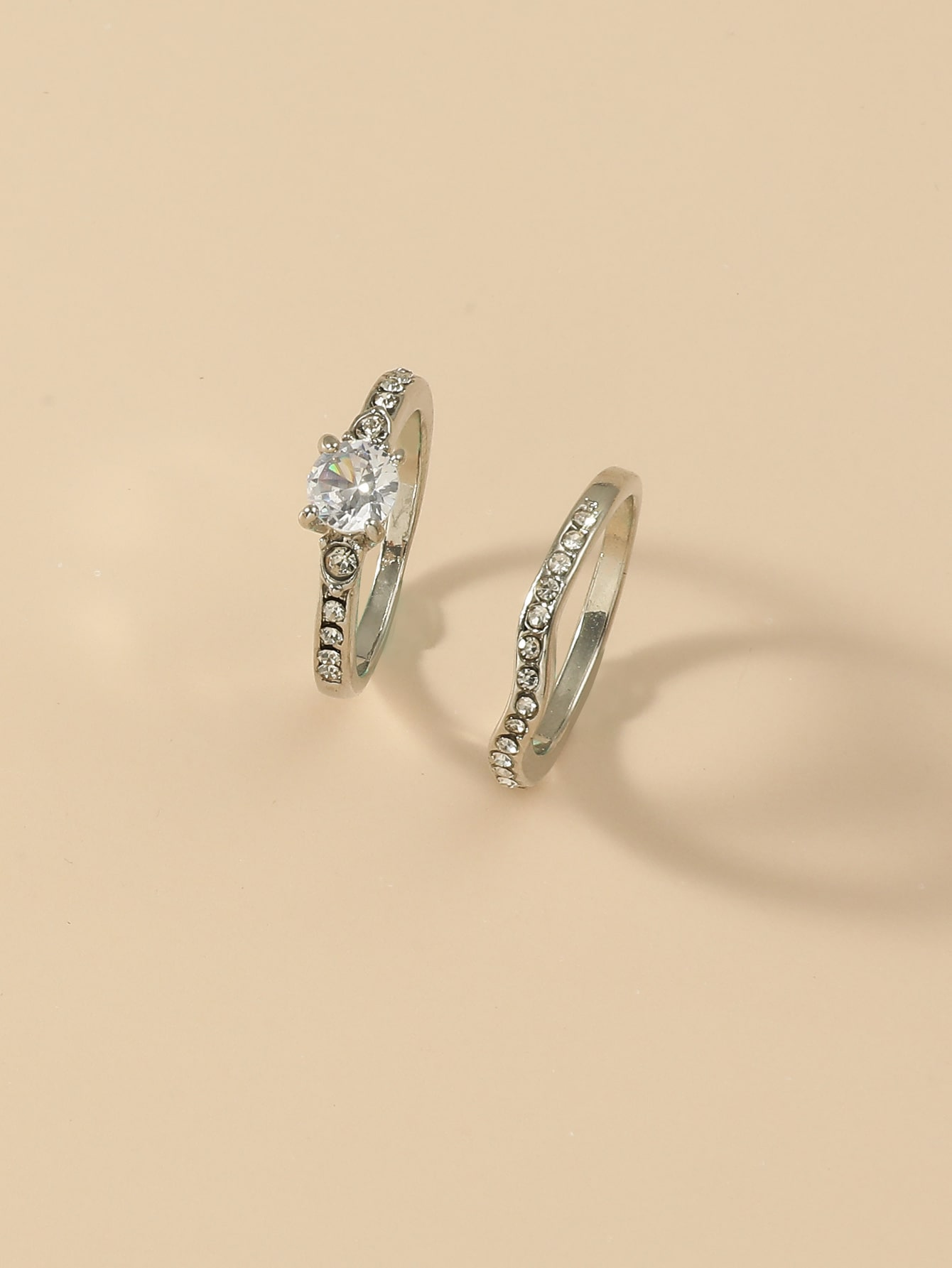 2pcs Rhinestone Decor Ring thumbnail