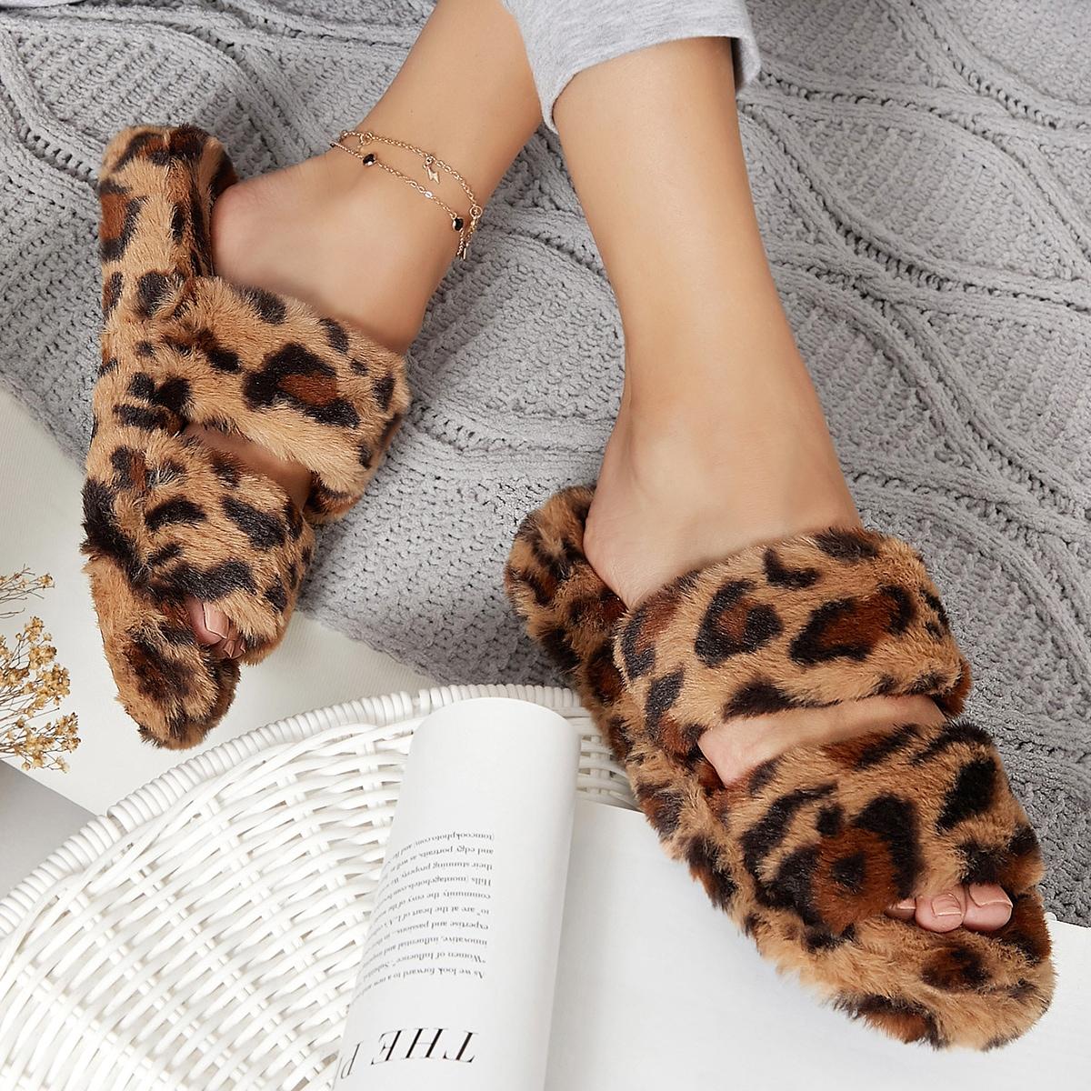 Леопардовый тапочки