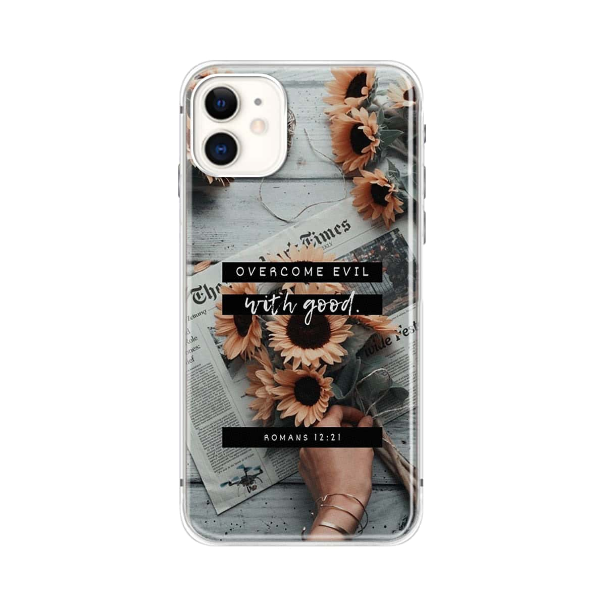 Sunflower Print Phone Case, SHEIN  - buy with discount